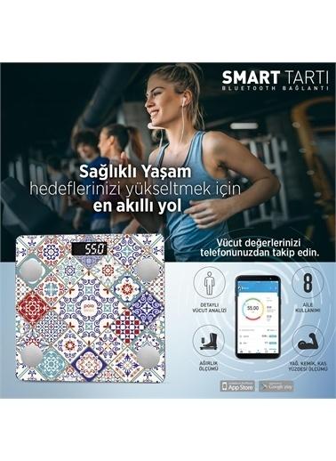 Polo Smart Psc04 İstanbul Yağ Ölçer Akıllı Bluetooth Tartı Baskül Renkli